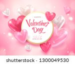 happy valentine's day template... | Shutterstock . vector #1300049530