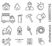 fire  flame. safety line icon... | Shutterstock .eps vector #1300055743