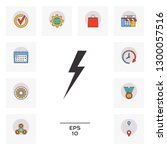 thunderstorm lightning icon.... | Shutterstock .eps vector #1300057516
