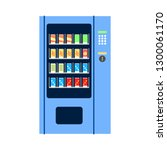 flat design of vending machine... | Shutterstock .eps vector #1300061170