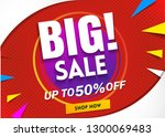 big sale banner template.poster ... | Shutterstock .eps vector #1300069483