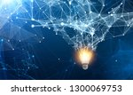 light bulb and connection. 3d... | Shutterstock . vector #1300069753