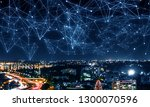 business district and wireless... | Shutterstock . vector #1300070596
