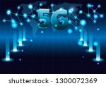 5g new wireless internet wifi... | Shutterstock .eps vector #1300072369