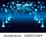 5g new wireless internet wifi... | Shutterstock .eps vector #1300072369
