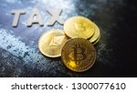 crypto currency  bitcoin coin... | Shutterstock . vector #1300077610