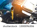 refueling and pouring oil... | Shutterstock . vector #1300096306