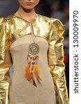 new york   february 17  a model ... | Shutterstock . vector #130009970