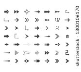 arrows vector collection with... | Shutterstock .eps vector #1300106170