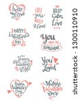 set of valentine's day related... | Shutterstock .eps vector #1300110910