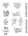 set of valentine's day related... | Shutterstock .eps vector #1300110913