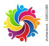 vector logo social friends.... | Shutterstock . vector #130011380