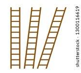 set of wooden stairs. rural... | Shutterstock . vector #1300116619