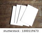 blank portrait mock up paper.... | Shutterstock . vector #1300119673