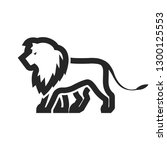 lion icon in thick outline... | Shutterstock .eps vector #1300125553