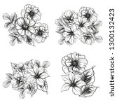 flowers set. collection of... | Shutterstock .eps vector #1300132423