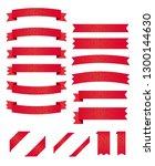 vector red ribbon background... | Shutterstock .eps vector #1300144630
