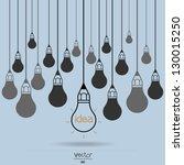 drawing idea light bulb concept ...   Shutterstock .eps vector #130015250