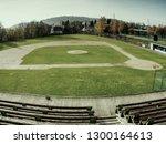 baseball stadium. green grass... | Shutterstock . vector #1300164613