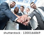 close up.smiling business team... | Shutterstock . vector #1300166869