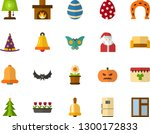 color flat icon set   easter... | Shutterstock .eps vector #1300172833