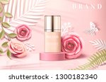 foundation product ads with... | Shutterstock .eps vector #1300182340