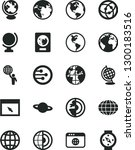 solid black vector icon set  ... | Shutterstock .eps vector #1300183516