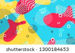 pop art color background.... | Shutterstock .eps vector #1300184653