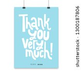 thank you very much   poster... | Shutterstock .eps vector #1300187806