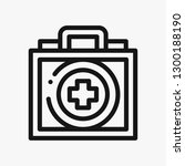 first aid kit concept line icon....