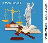law and justice concept with... | Shutterstock .eps vector #1300189036