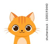cute cartoon cat. portrait of a ... | Shutterstock .eps vector #1300193440