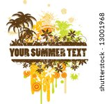 summer border for text. | Shutterstock .eps vector #13001968