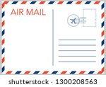 air mail envelope with postal... | Shutterstock .eps vector #1300208563