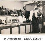 krivoy rog  ussr   circa 1950 ... | Shutterstock . vector #1300211506