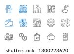 wealth icons set. collection of ... | Shutterstock .eps vector #1300223620