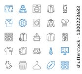 shirt icons set. collection of... | Shutterstock .eps vector #1300223683