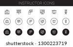 instructor icons set.... | Shutterstock .eps vector #1300223719