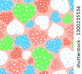 seamless pattern with colorful...   Shutterstock .eps vector #1300235536