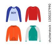 sweater for boy. vector. baby... | Shutterstock .eps vector #1300237990