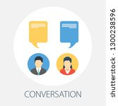 chat conversation messages.... | Shutterstock .eps vector #1300238596