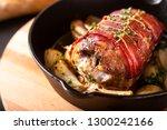food concept homemade bacon...   Shutterstock . vector #1300242166