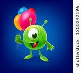 cute alien illustration | Shutterstock .eps vector #1300242196
