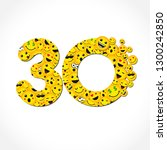 30 th years old congrats.... | Shutterstock .eps vector #1300242850