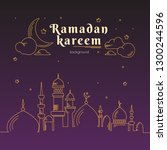 ramadan kareem greeting with... | Shutterstock .eps vector #1300244596
