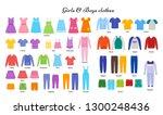 baby clothes. vector. kid... | Shutterstock .eps vector #1300248436