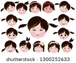 a series of drawings depicting... | Shutterstock .eps vector #1300252633