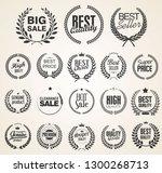 retro vintage laurel wreaths... | Shutterstock .eps vector #1300268713