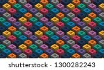 a variety of colored rods... | Shutterstock .eps vector #1300282243