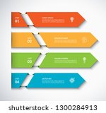 infographic arrow template with ... | Shutterstock .eps vector #1300284913